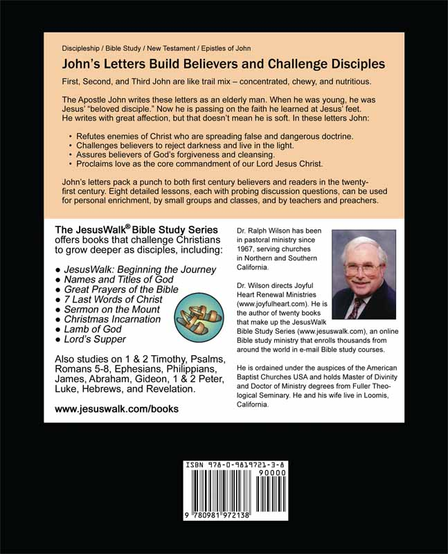 Discipleship Lessons from John's Letters (back cover)