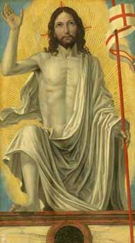 Ambrogio di Stefano Bergognone (ca. 1460-1523), Christ Risen from the Tomb (c. 1490), oil on panel, National Gallery of Art, Washington, DC.