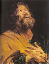 The Penitent Apostle Peter, by Anthony Van Dyke