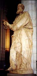 Statue of St. Peter in the Antwerp Cathedral