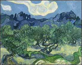 Vincent Van Gogh, 'The Olive Trees' (1889), oil on canvas, 36 x 29 in, Museum of Modern Art, New York.