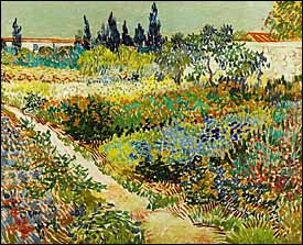 Vincent Van Gogh, 'Garden at Arles' (1888), oil on canvas, 32 x 40 in, Kunstmuseum The Hague, Netherlands.