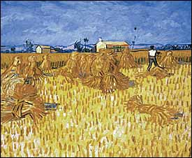 Vincent Van Gogh, 'Harvest in Provence' (1888), oil on canvas, 20 x 24 in, The Israel Museum, Jerusalem.