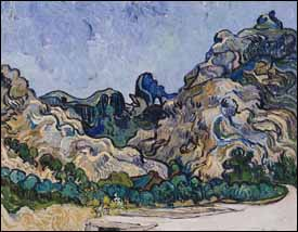 Vincent Van Gogh, 'Mountains at Saint-Rémy' (1889), oil on canvas, 29 x 36 in, Solomon R. Guggenheim Museum, New York.
