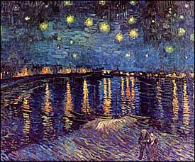 Vincent Van Gogh, 'Starry Night over the Rhone' (1888), oil on canvas, 28 x 36 in., Musée d'Orsay, Paris.