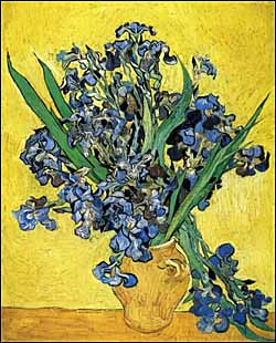 Vincent Van Gogh, 'Irises' (1890), oil on canvas, 23 x 74 cm, Van Gogh Museum, Amsterdam.