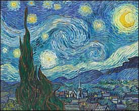 Vincent Van Gogh, 'The Starry Night' (1889), oil on canvas, 39 x 36 in., Museum of Modern Art (MoMA), New York City.