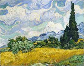 Vincent Van Gogh, 'Wheat Field with Cypresses' (1889), oil on canvas, 29 x 37 in, Metropolitan Museum of Art, New York.