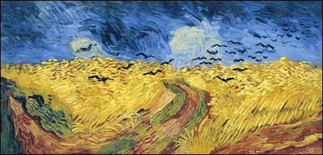 Vincent Van Gogh, 'Wheatfield with Crows' (1890), 20 x 41 in, oil on canvas, Van Gog Museum, Amsterdam.