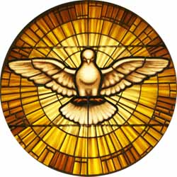 Holy Spirit Window in Cathedral Basilica of St. Francis of Assisi, Santa Fe, New Mexico.