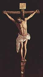 Francisco de Zurbaran (1598-1664), 'The Crucifixion' (1627), oil on canvas, 290 x 168 cm, Art Institute Museum, Chicago.