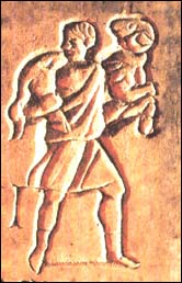 Jesus depicted as the Good Shepherd in catacomb art