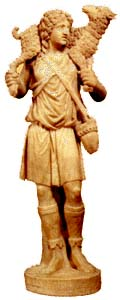 Statue of the Good Shepherd, from the Catacomb of Domitilla, Rome