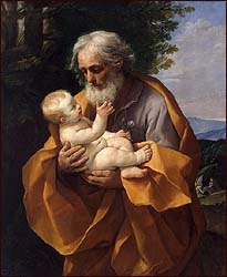 Guido Reni, St. Joseph with Infant Christ in His arms (1620s)