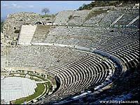 Roman theater at Ephesus held 24,000 people