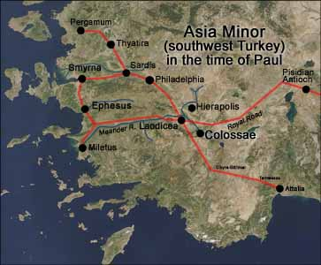 Bible Map Of Asia Minor.Introduction To Paul S Letter To The Colossians Jesuswalk Bible