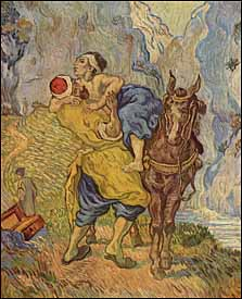 Jesus's parable of the Good Samaritan displays the kind of mercy God shows and wants us to emulate. Vincent Van Gogh, 'The Good Samaritan (after Delacroix)' (1890), oil on canvas, 29 x 24 in., Kr�ller-M�ller Museum, Otterlo, Netherlands.