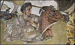 'Alexander fighting king Darius III of Persia,' Alexander Mosaic (c. 100 BC), Naples National Archaeological Museum, Italy.