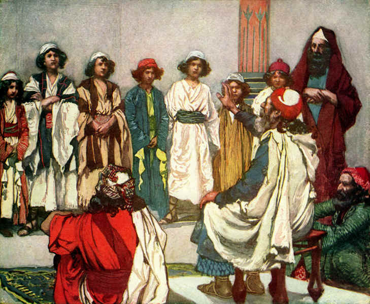 Jesse Presents His Sons To Samuel
