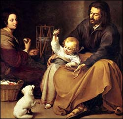Murillo, The Holy Family with Small Bird
