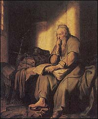 Rembrandt, St. Paul in Prison (1627)