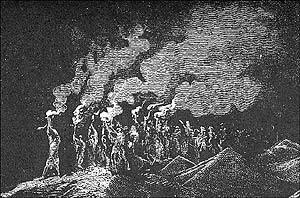 Gustave Doré, detail from The Midianites Put to Flight (1865), woodcut