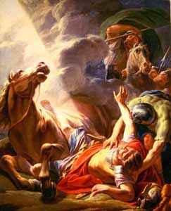 Nicolas-Bernard Lépicié, �La Conversion de Saül � (1767), oil on canvas. Saul was the last person you would expect to display God�s glory, but God chose him.