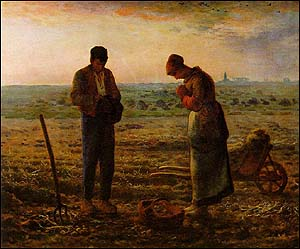 Jean-Fran�ois Millet (French Realist Painter, 1814-1875), The Angelus (1857-59)