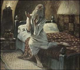 James J. Tissot (1836-1902), David Praying in the Night