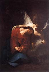 Paul Troger, Christ comforted by an angel (1730)