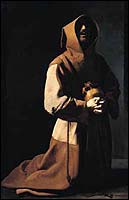 Zurbaran, St. Francis in Meditation and Prayer