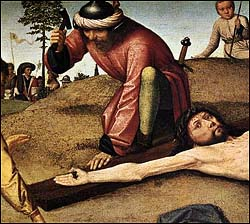 Gerard David, Christ Nailed to the Cross (1480)