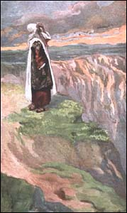 James J. Tissot, 'Moses sees the promised Land from Afar' (1896-1900), Gouache on board, The Jewish Museum, New York.