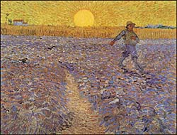 Van Gogh, Sower with Setting Sun (1888)