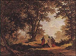 Way to Emmaus by German painter Robert Z�nd (1827-1909)