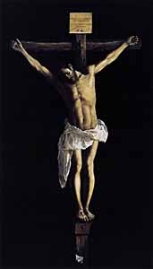 Francisco Zurbará n (Spanish painter, 1598-1664), 'Christ on the Cross' (1627), oil on canvas