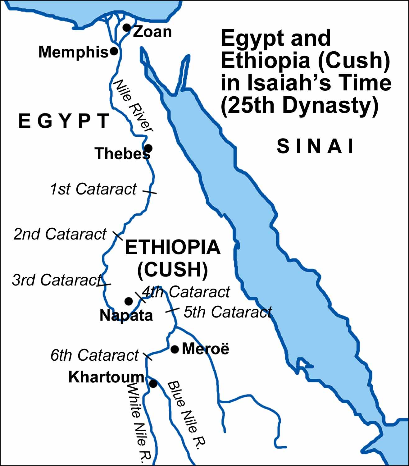 Maps Covering The Periods Of Isaiahs Prophecies - Map of egypt in bible times