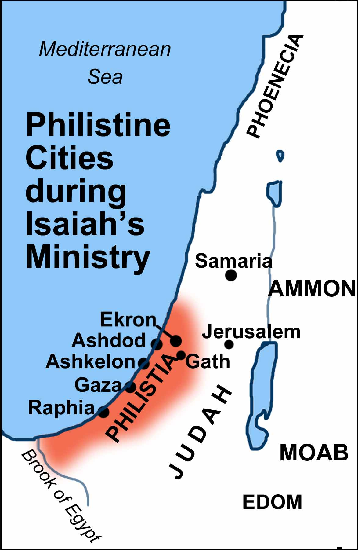 Maps Covering the Periods of Isaiahs Prophecies