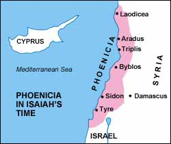 Phoenicia in Isaiah's Lifetime, capital at Tyre