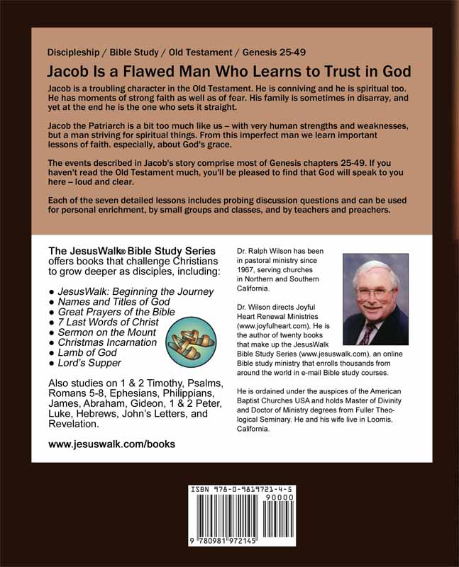 Discipleship Lessons from the Life of Jacob, back cover
