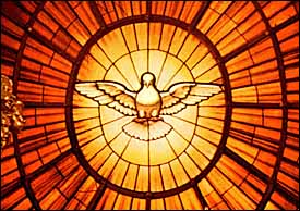 Gian Lorenzo Bernini, 'Holy Spirit,' oval stained glass window, part of the massive Chair of St. Pater (1647-1653), behind the altar at St. Peter's Basilica, Vatican.