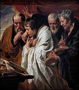 Jacob Jordaens, 'The Four Evangelists' (1625--1630), Louvre Museum, Paris.