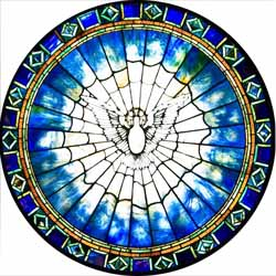 Louis Tiffany, Holy Spirit or Dove Window (1895-1900), First Presbyterian Church of Springfield, Illinois.