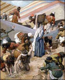 James J. Tissot, 'The Gathering of the Manna' (1896-1903), gouache on board, 11-7/16