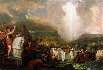 Benjamin West, 'Joshua passing the River Jordan with the Ark of the Covenant' (1800), oil on wood, 26.6 x 35.2 in,, Art Gallery of New South Wales.