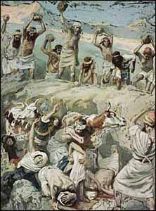 James J. Tissot, 'Achan and His Family Stoned to Death' (1896-1902), gouache on board, The Jewish Museum, New York.