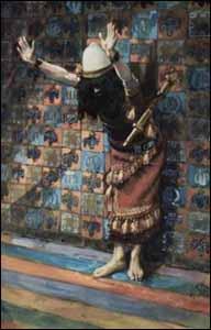 James J. Tissot, 'Joshua in the Sanctuary' (1896-1902), gouache on board. Jewish Museum, New York.