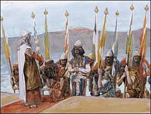James J. Tissot, 'Moses Blesses Joshua before the High Priest' (1896-1902), gouache on board, Jewish Museum, New York.