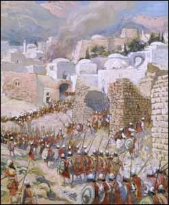 James J. Tissot, 'The Taking of Jericho' (1896-1902), gouache on board, 7-1/4 in. x 5-5/16 in., The Jewish Museum, New York.