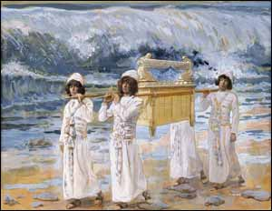 James J. Tissot, 'The Ark Passes Over Jordan' (1896-1902), gouache on board, 8-3/8 in. x 10-13/16 in., The Jewish Museum, New York.